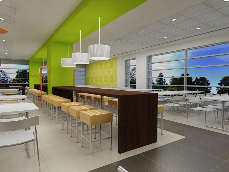 TÉRALKOTÓ Építész Stúdió, Étterem és kávézó, XI., Science Park irodaépület